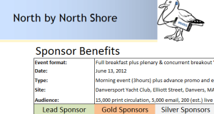 Click here to select your Sponsor package - thanks!