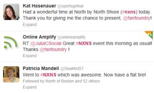 Tweetstream excerpt